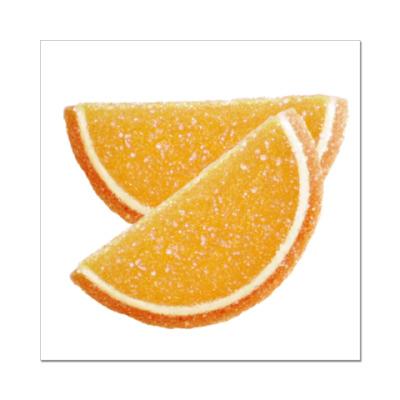 Наклейка (стикер)  Апельсиновые дольки