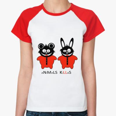 Женская футболка реглан Animals Killas
