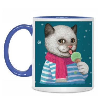 Кружка Кот и мороженое