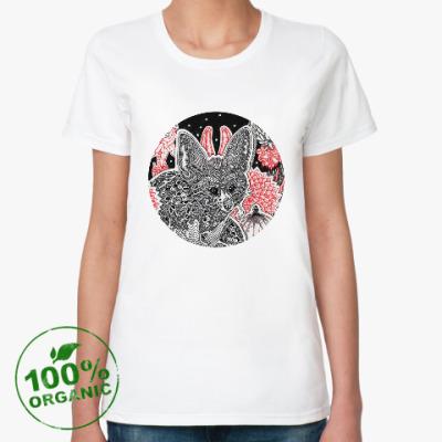Женская футболка из органик-хлопка Фенек