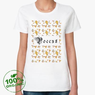 Женская футболка из органик-хлопка Русский стиль