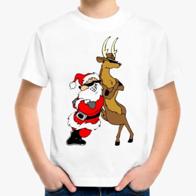 Детская футболка Санта и Олень