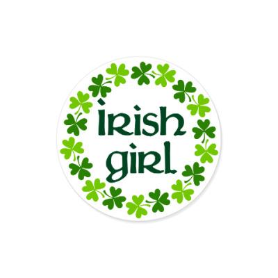 Виниловые наклейки Irish girl