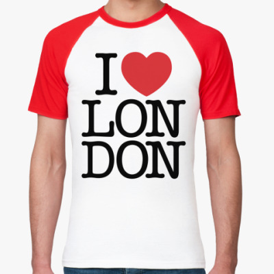 Футболка реглан Я люблю Лондон