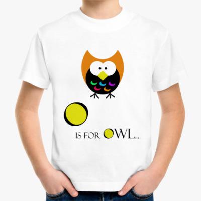 Детская футболка Сова!