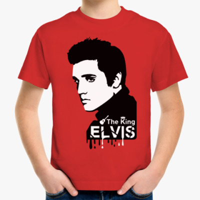Детская футболка 'Elvis the king'