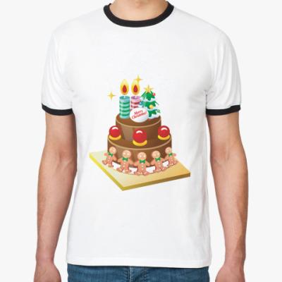 Футболка Ringer-T Рождественский торт