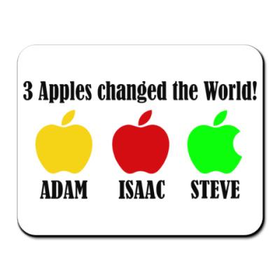 Коврик для мыши 3 яблока изменили мир