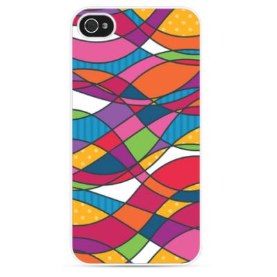 Чехол для iPhone Геометрика Waves