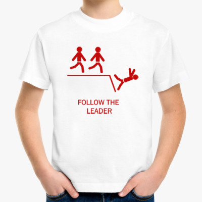Детская футболка Follow the leader