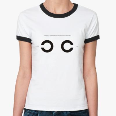 Женская футболка Ringer-T Проверь зрение