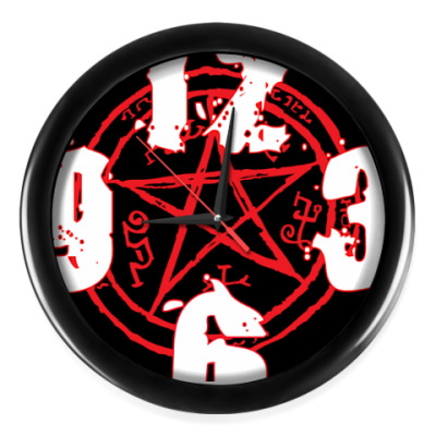 Настенные часы Devil's Trap - Supernatural