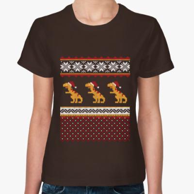 Женская футболка Динозавр