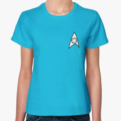 Женская футболка Scince officer uniform (STR11)