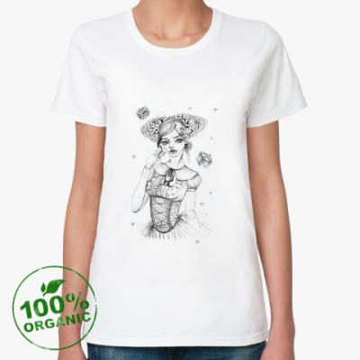 Женская футболка из органик-хлопка Куколка