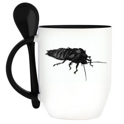 Кружка с ложкой Мадагаскарский таракан
