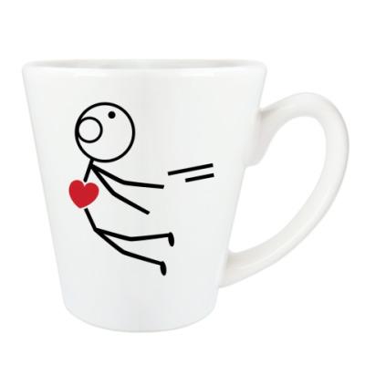 Чашка Латте Парный дизайн для влюбленных