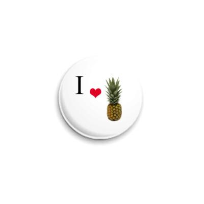 Значок 25мм Pineapple