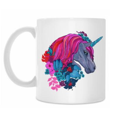 Кружка Единорог в цветах