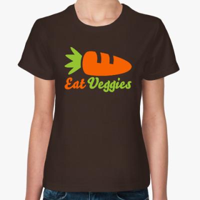 Женская футболка Eat Veggies