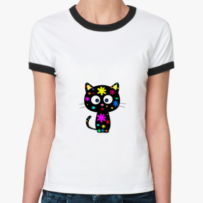 Женская футболка Ringer-T У Chococat цветочная болезнь