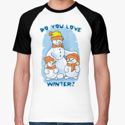 Футболка реглан Winter is coming. Do you love it?
