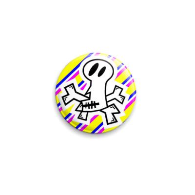 Значок 25мм Skull color
