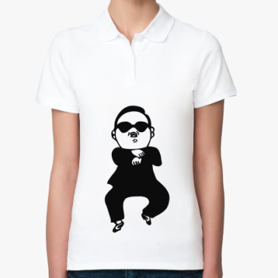 Женская рубашка поло В стиле гангнам (gangnam)