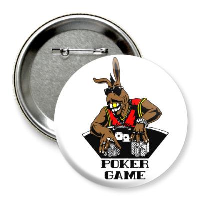 Значок 75мм Kangoo Poker Game