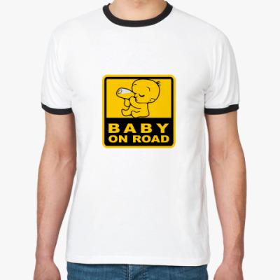 Футболка Ringer-T Baby On Road