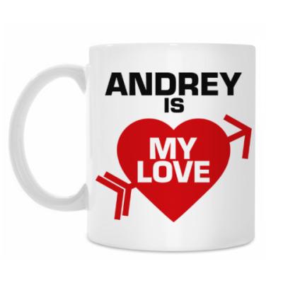 Кружка Андрей - моя любовь