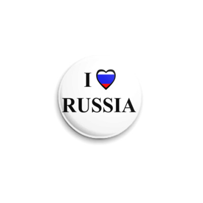 Значок 25мм  russia
