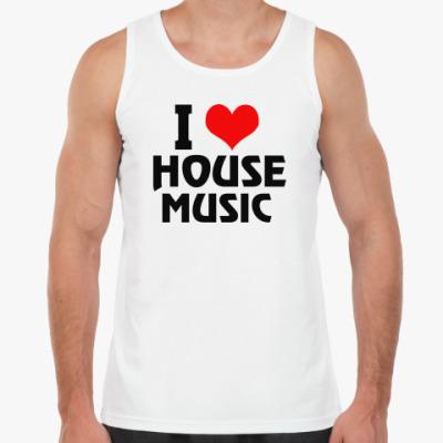 Майка i love house music