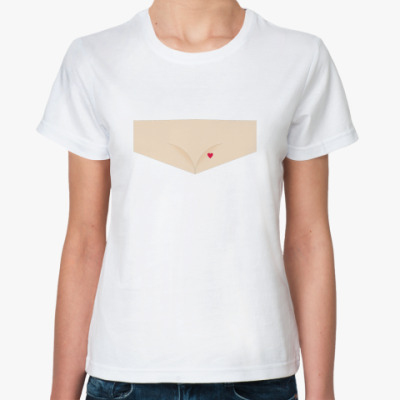 Классическая футболка имитация выреза для груди :)
