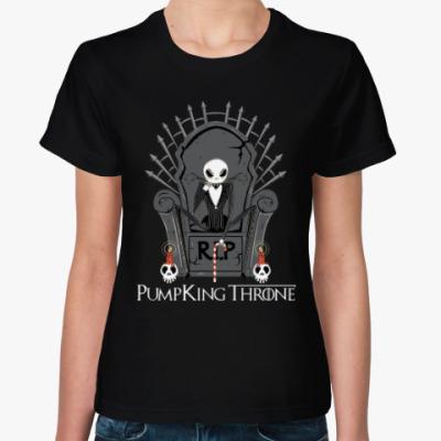 Женская футболка Тыква на троне