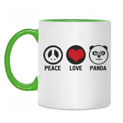 Кружка peace love panda