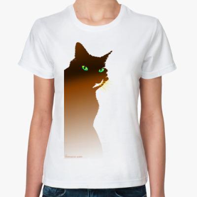 Классическая футболка Рыжий кот