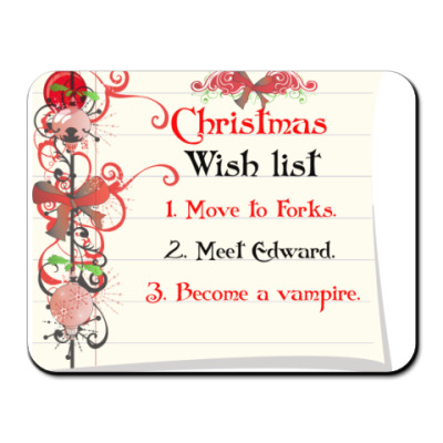 Коврик для мыши Christmas wish list