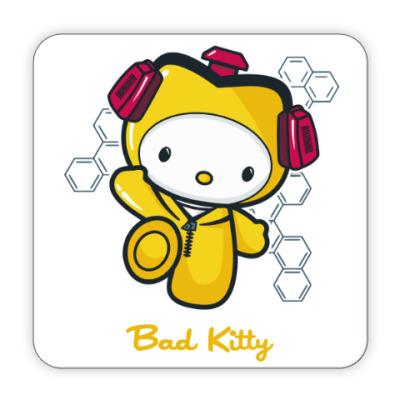 Костер (подставка под кружку) Bad Kitty
