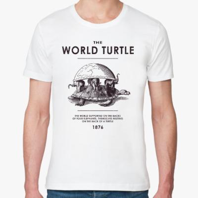 Футболка из органик-хлопка  World Turtle