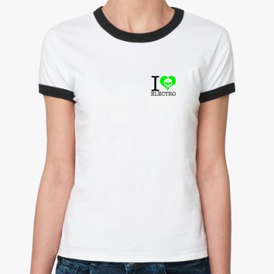 Женская футболка Ringer-T электро