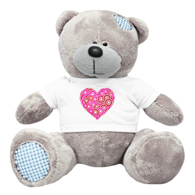 Плюшевый мишка Тедди Сердце-круги