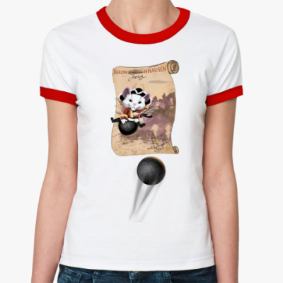 Женская футболка Ringer-T Мышгаузен