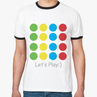 Футболка Ringer-T Let's Play Twister!