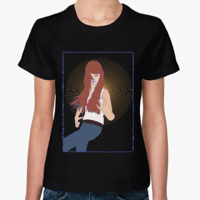 Женская футболка воображаемая музыкальная игра