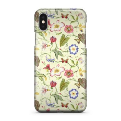 Чехол для iPhone X Романтичные цветы