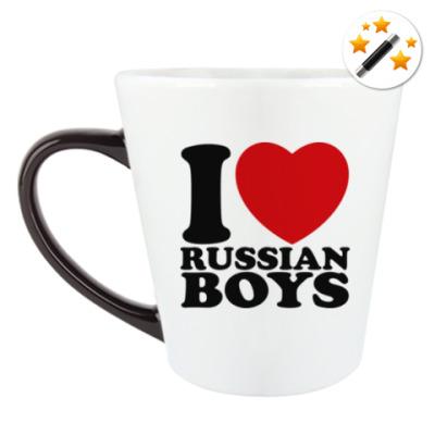 Кружка-хамелеон Люблю русских парней