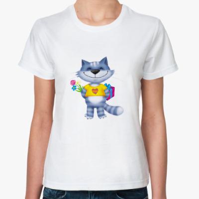 Классическая футболка Поздравляю!