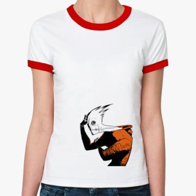 Женская футболка Ringer-T Brain