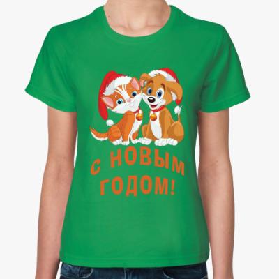 Женская футболка С Новым Годом!